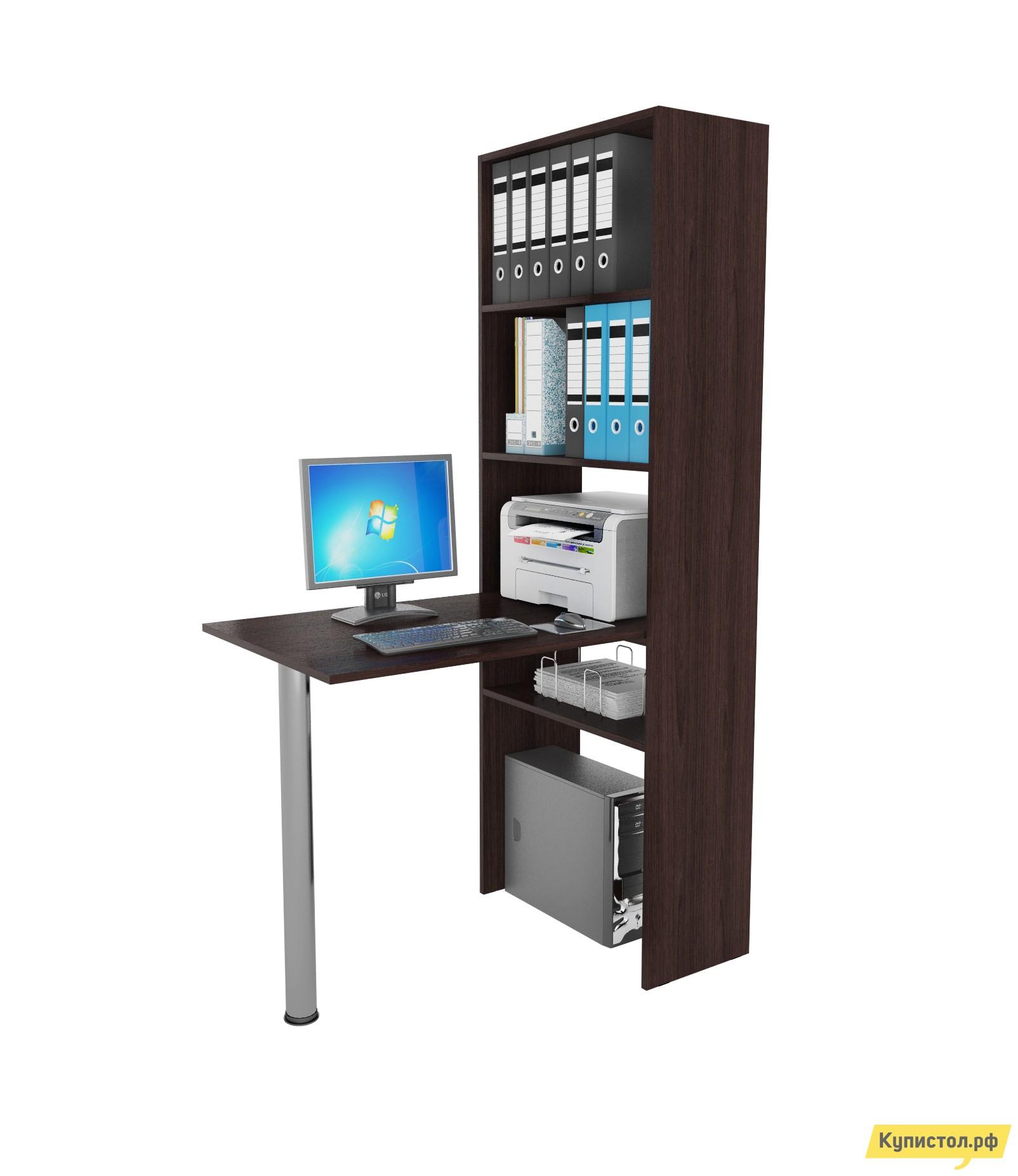 Компьютерный стол МФ Мастер Рикс-4 + Рикс-6 Венге