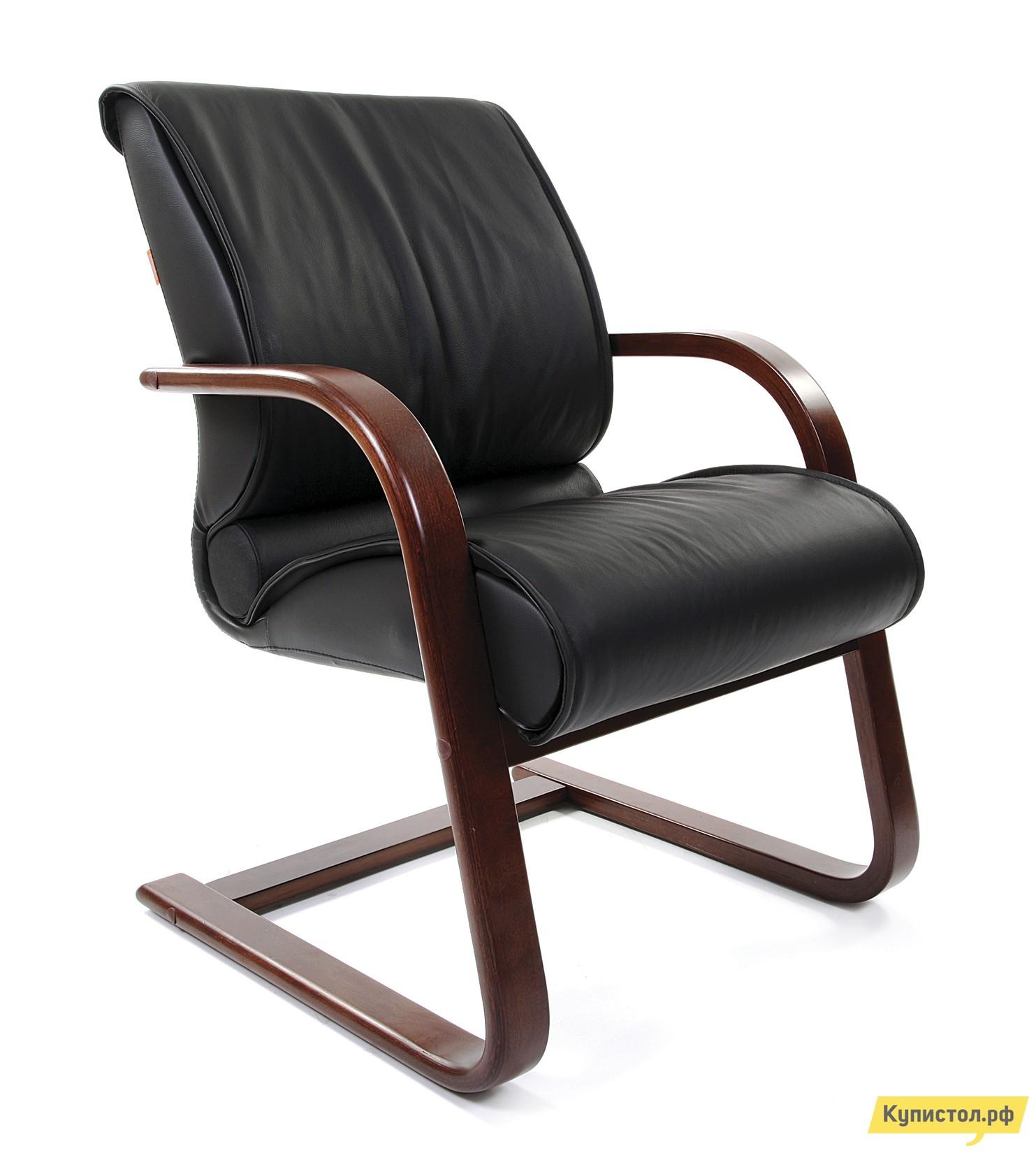 Офисный стул Chairman CHAIRMAN 445 WD Черная кожа