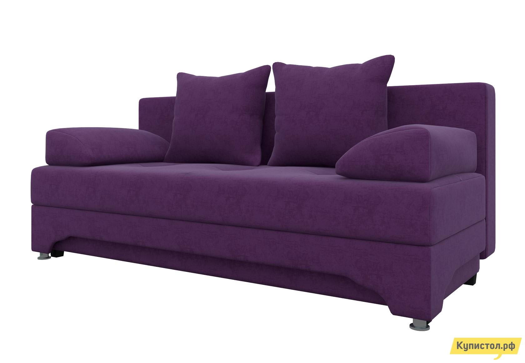 Диван Мебелико Ник-2 Фиолетовый микровельвет