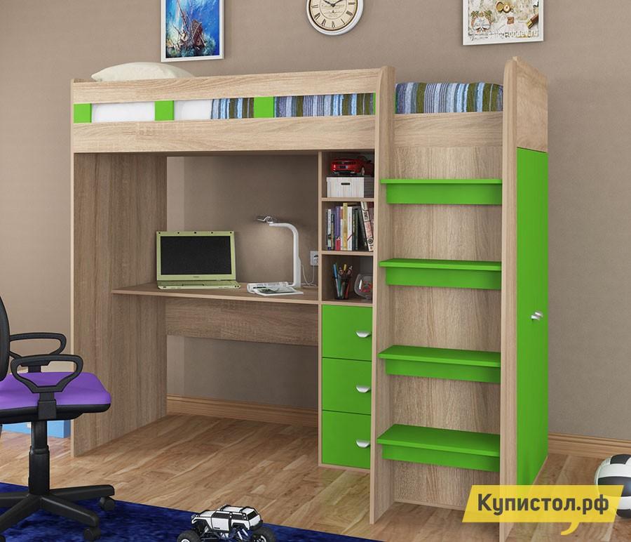Кровать-чердак 4 Сезона Golden Kids-5 Зеленый
