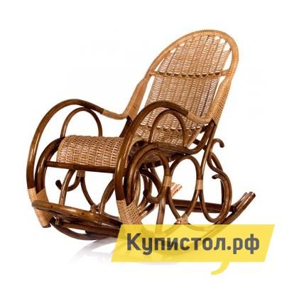Кресло-качалка Мебель Импэкс Кресло-качалка Ведуга Орех / Светлая лоза