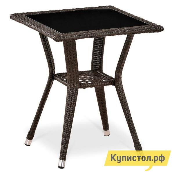 Плетеный стол Афина-мебель T25-W51 Коричневый ротанг (W51)