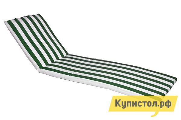 Матрас для шезлонга ЛетоЛюкс Бриз для лежака Белый / Зеленый