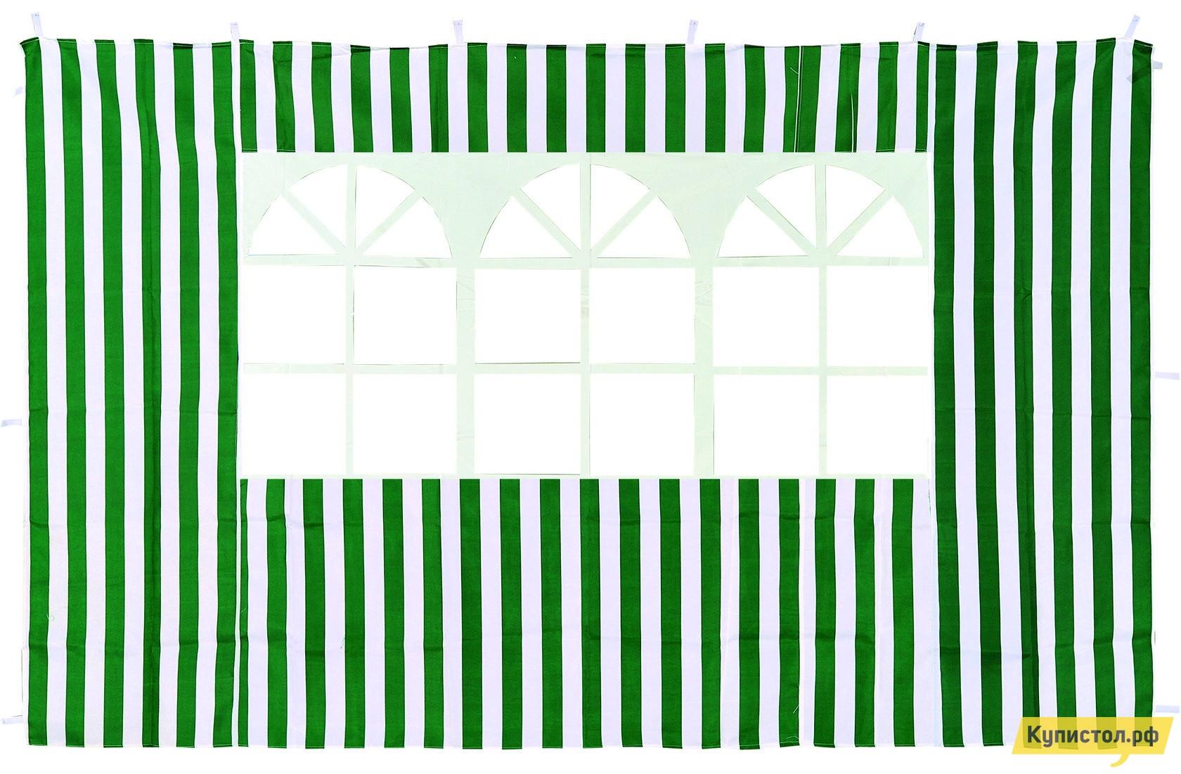 Аксессуар Green Glade Стенка с окном для садового тента Зеленый