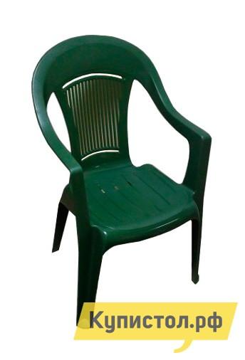 Пластиковый стул ЭЛП Кресло «Венеция» Темно-зеленый