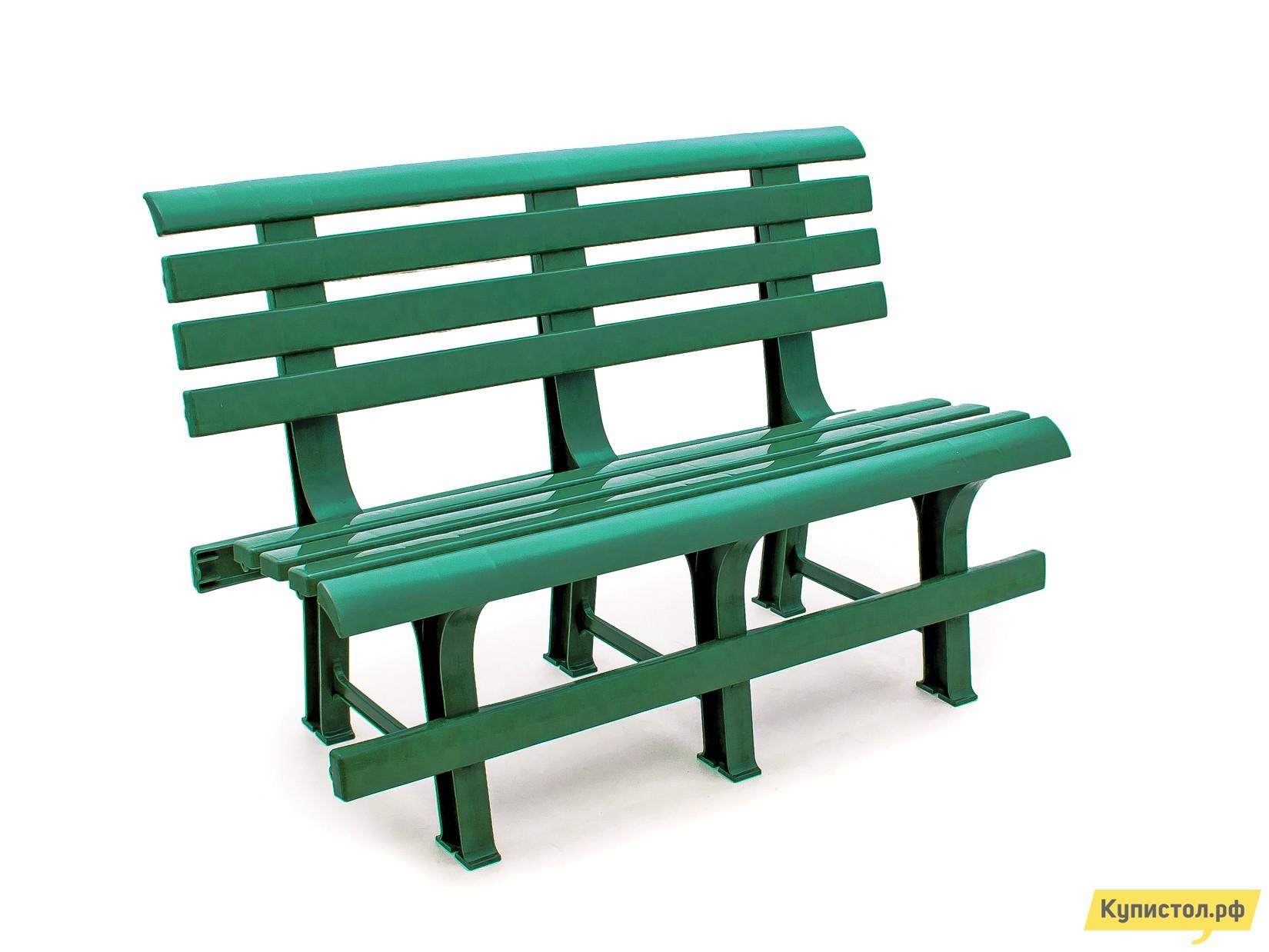 Скамейка Стандарт Пластик Скамья №2 (1200х530х800) мм Болотный