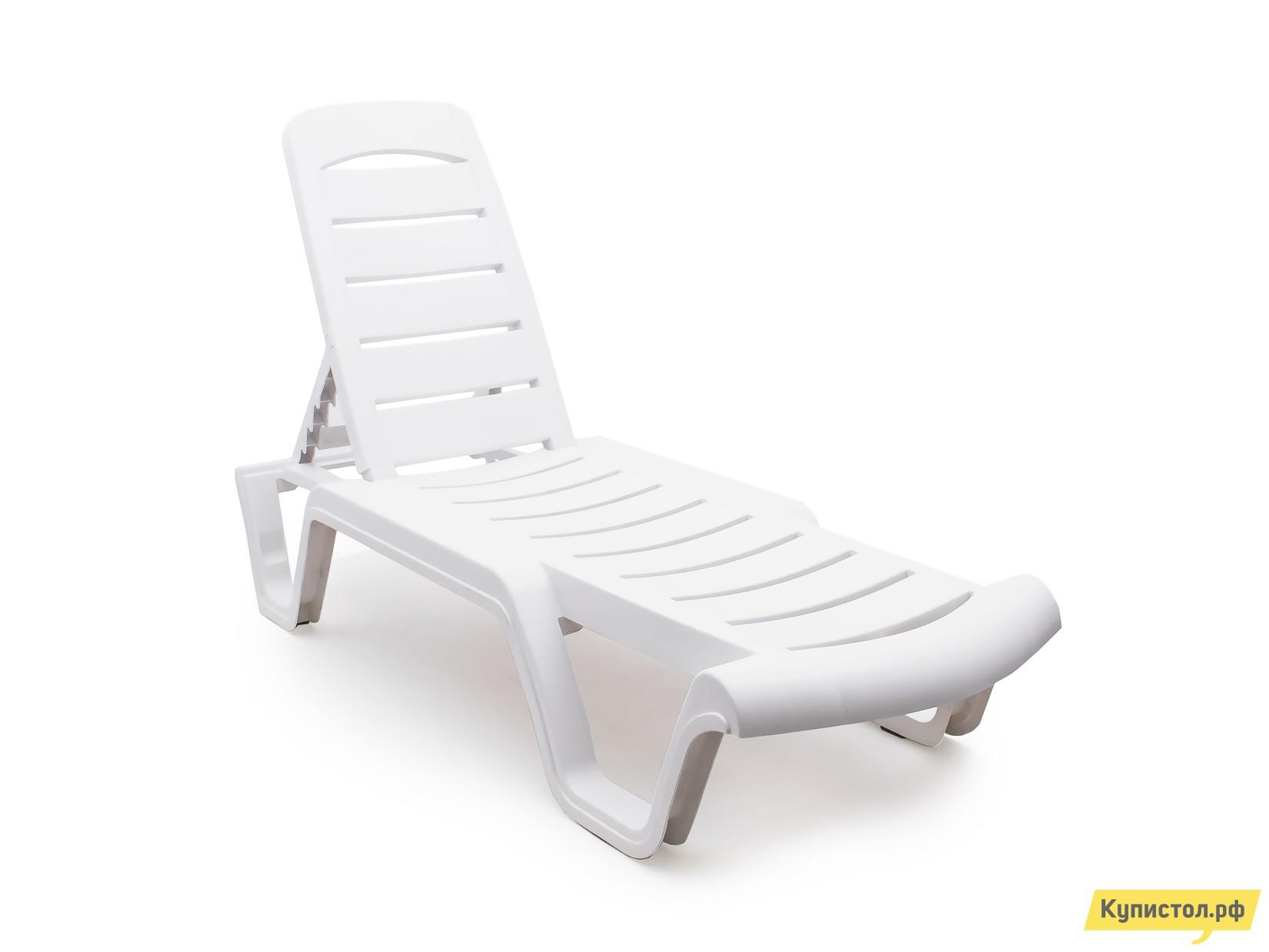 Шезлонг Отдых с комфортом Лежак Agua  Белый