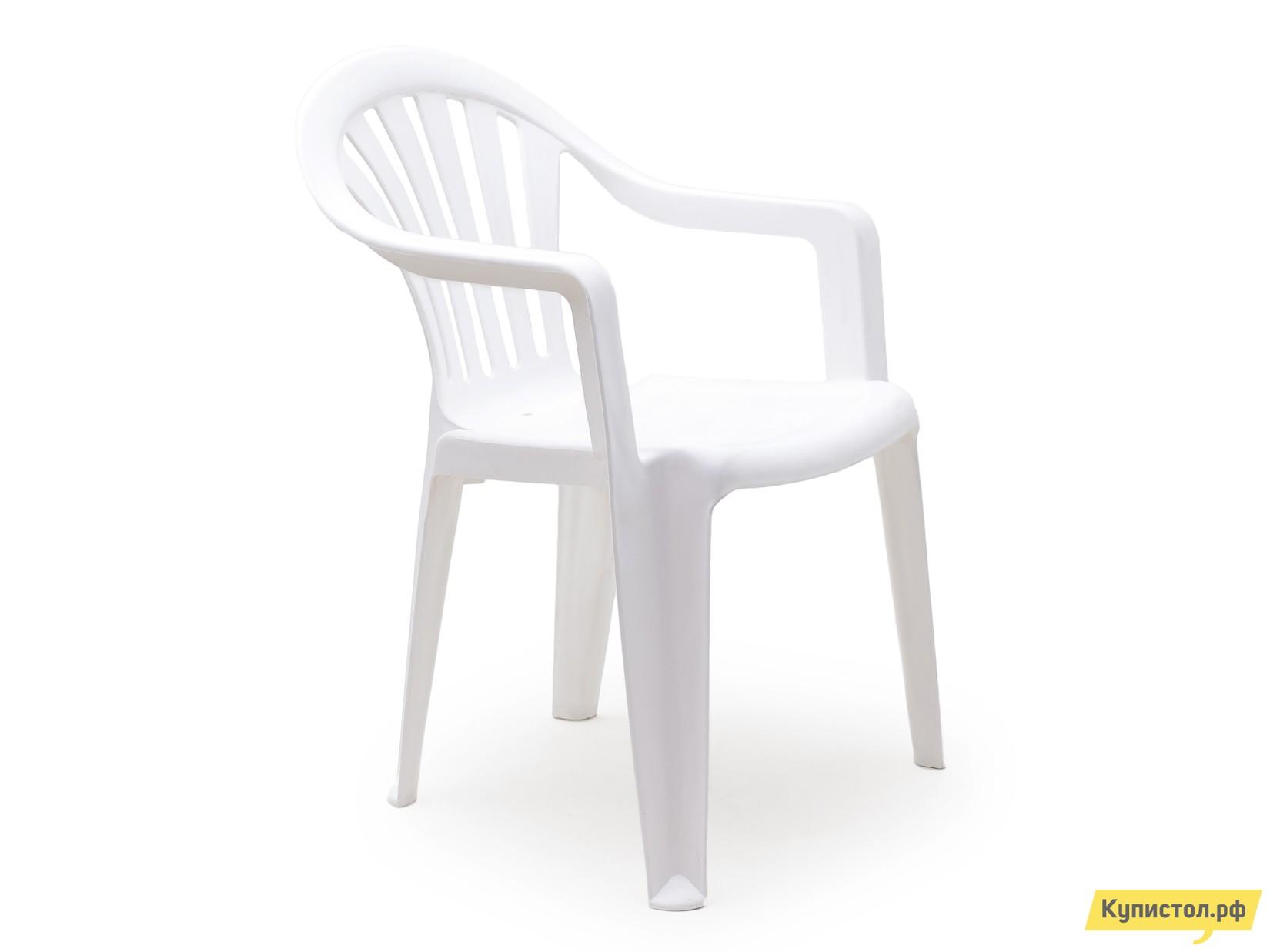 "Пластиковый стул Стандарт Пластик Кресло №1 ""Пальма-1"" (560х550х770мм) Белый"