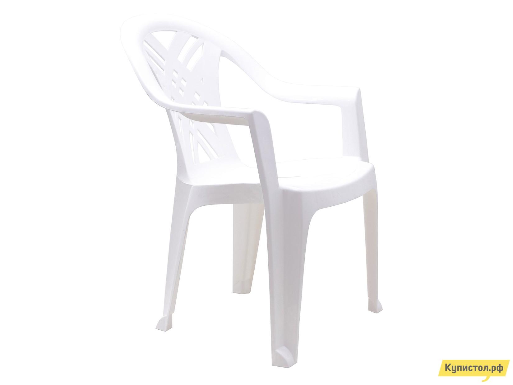 """Пластиковый стул Стандарт Пластик Кресло №6 """"Престиж-2"""" (660x600x840мм) Белый"""