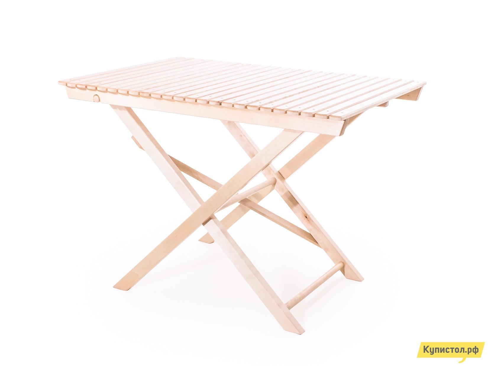 Садовый стол СМКА большой складной СМ004Б Береза