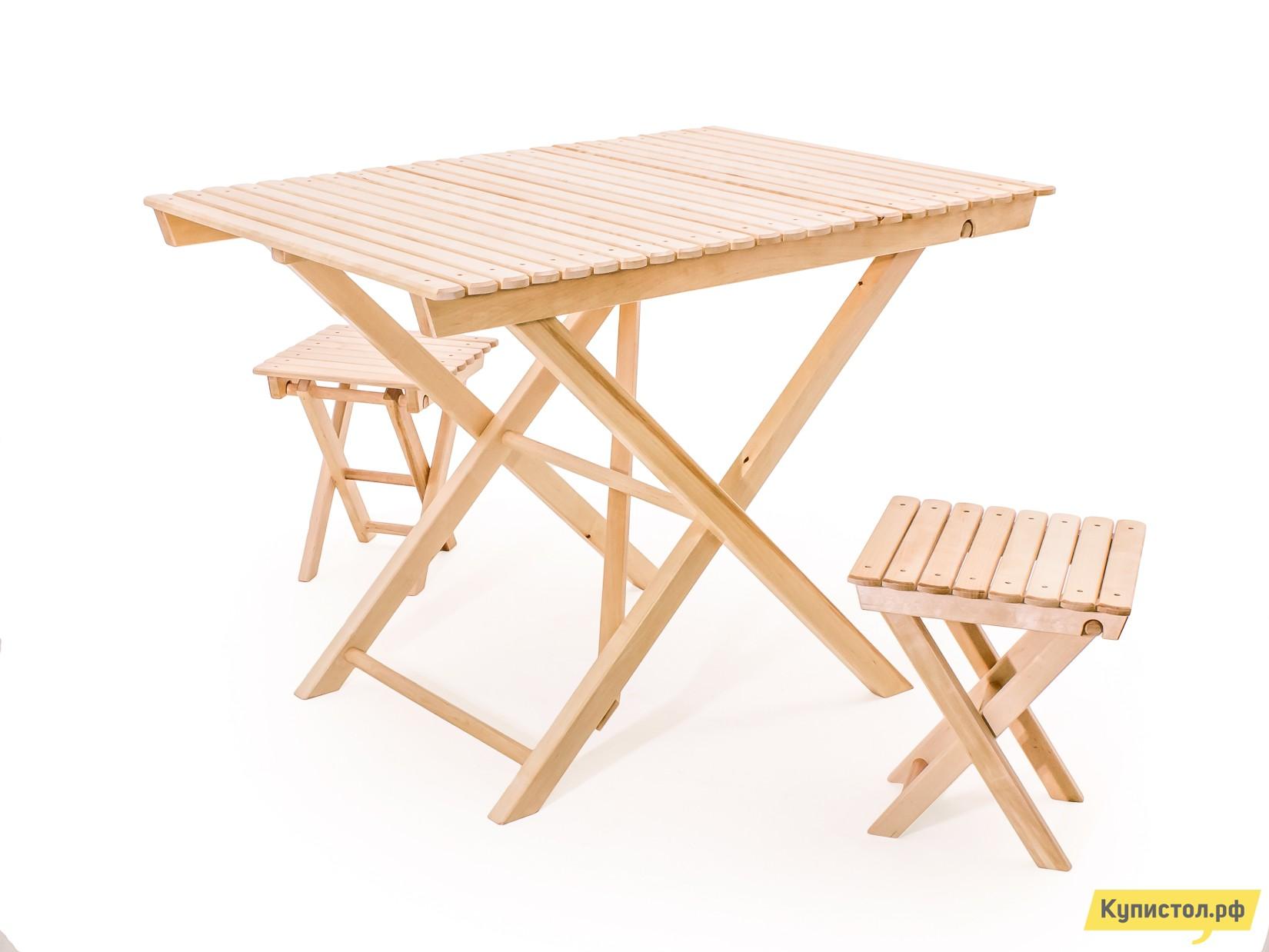 Комплект садовой мебели СМКА СМ004Б+СМ018Б 2 шт Береза