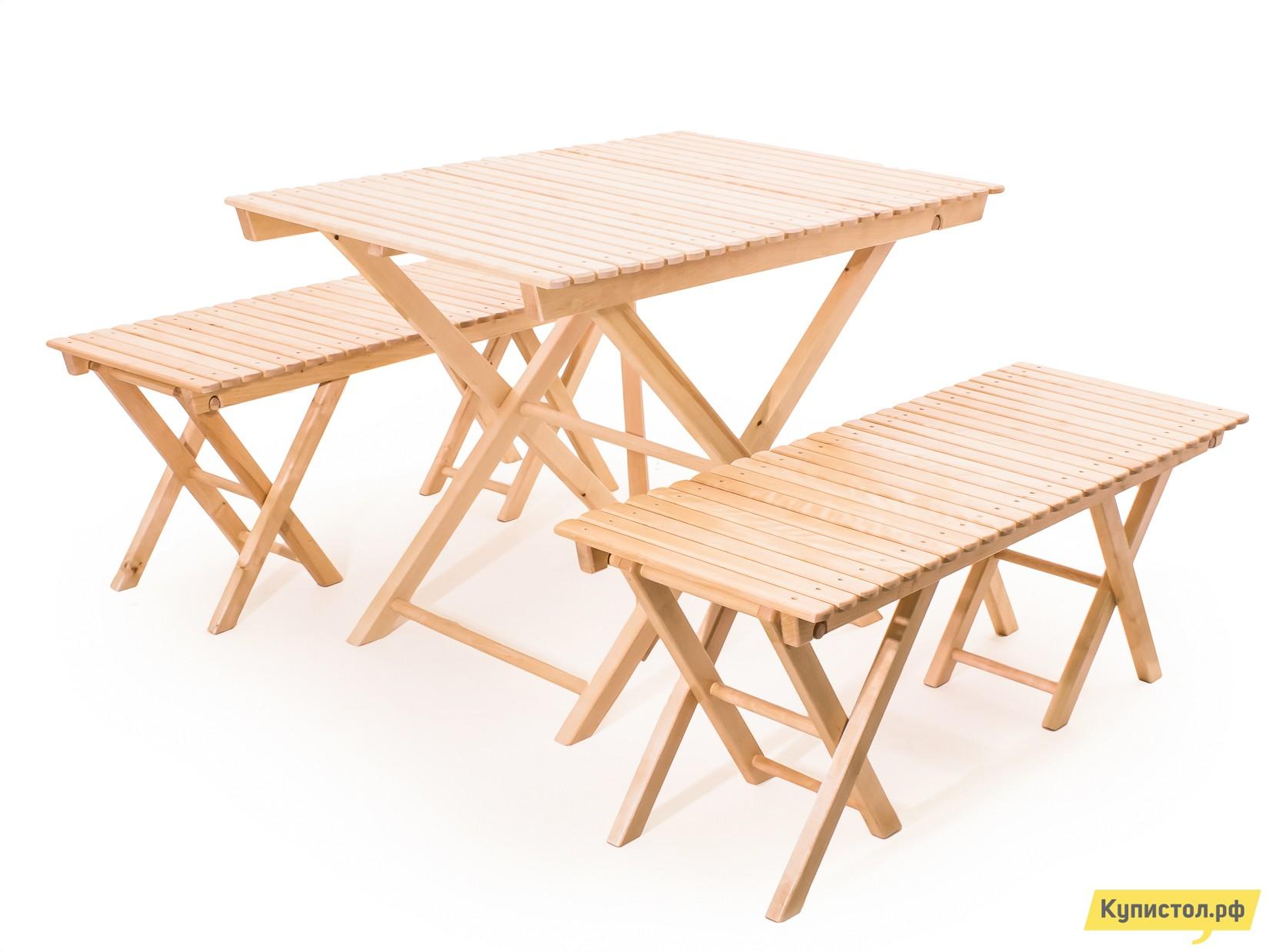 Комплект садовой мебели СМКА СМ004Б+СМ026Б 2 шт Береза