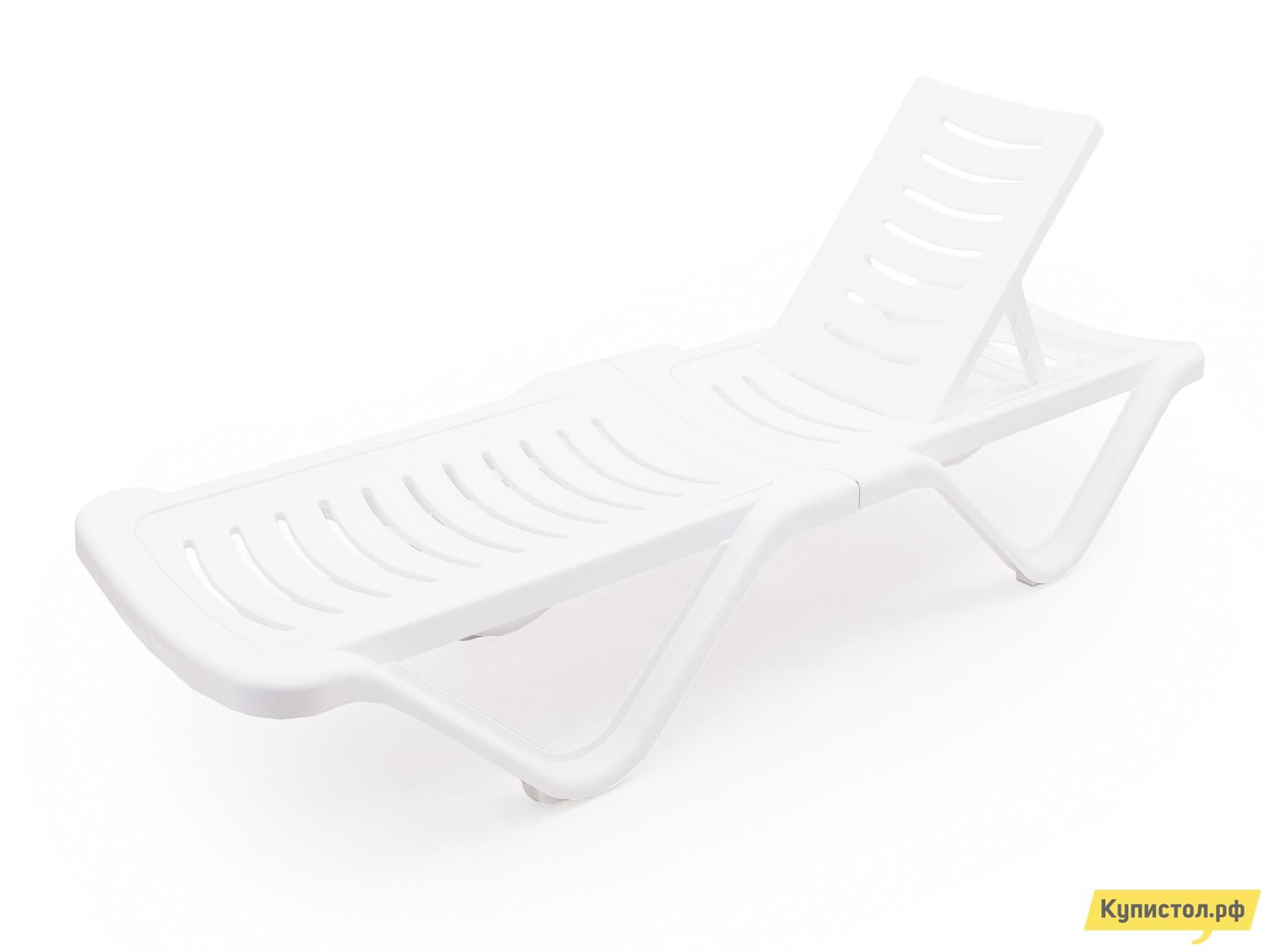 Шезлонг АТР Шезлонг (1920х620х320) белый Белый