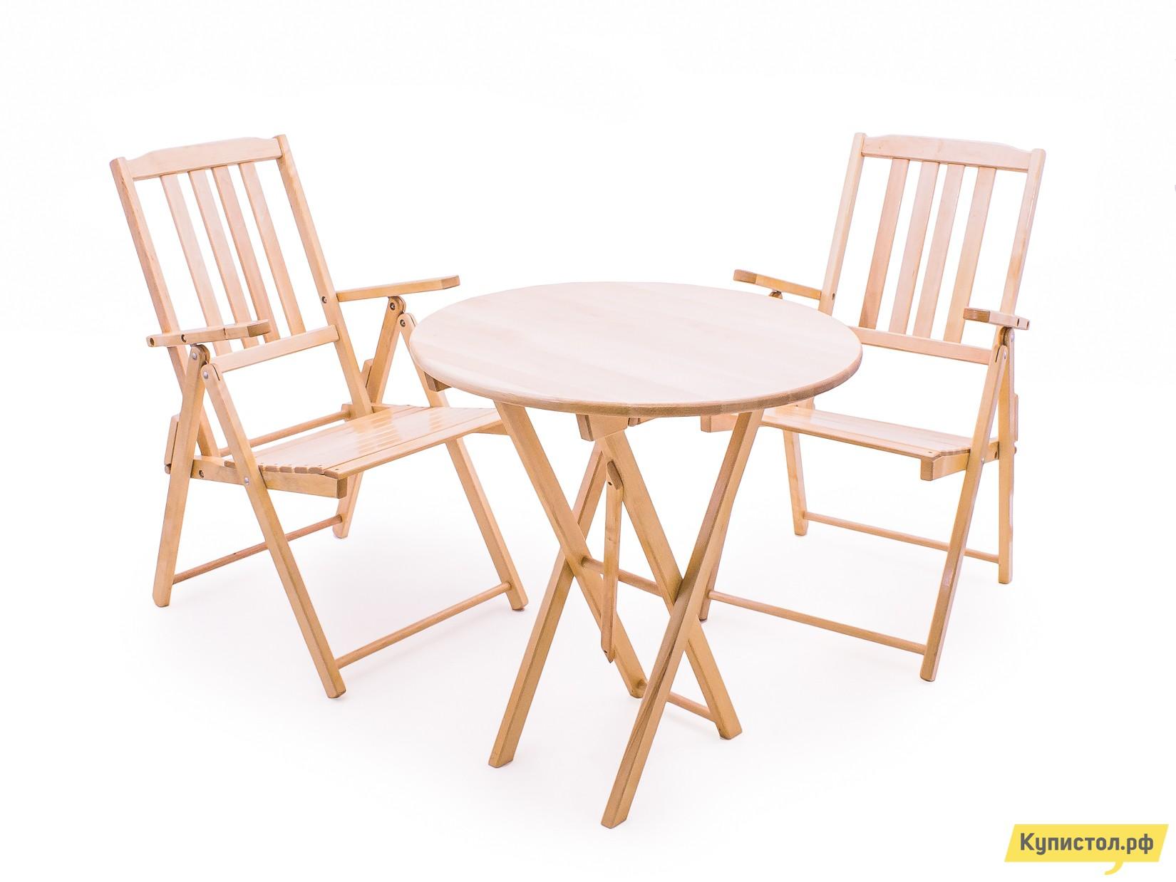 Комплект садовой мебели СМКА СМ012Б + СМ047Б Береза