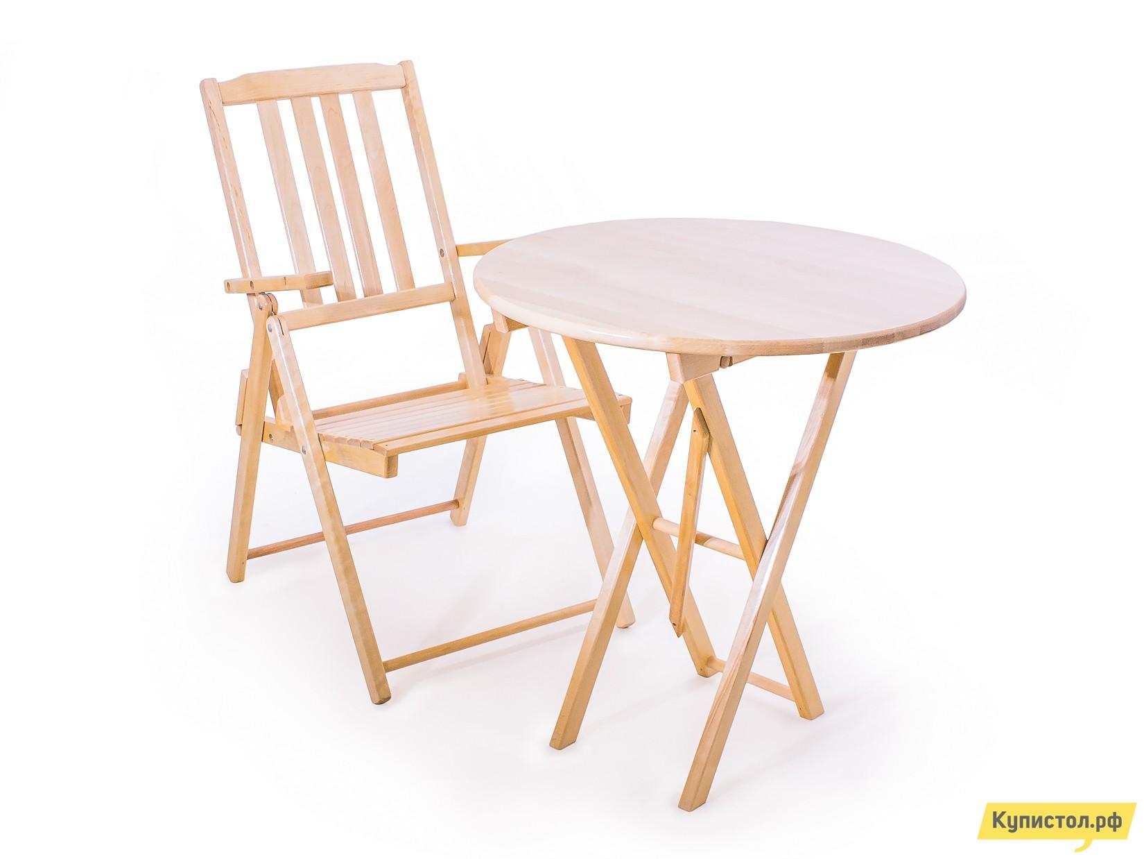 Комплект садовой мебели СМКА Комфорт СМ047Б+СМ012Б Береза