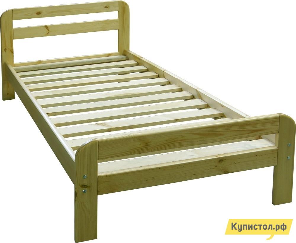 Кровать Добрый мастер К-1е Массив сосны