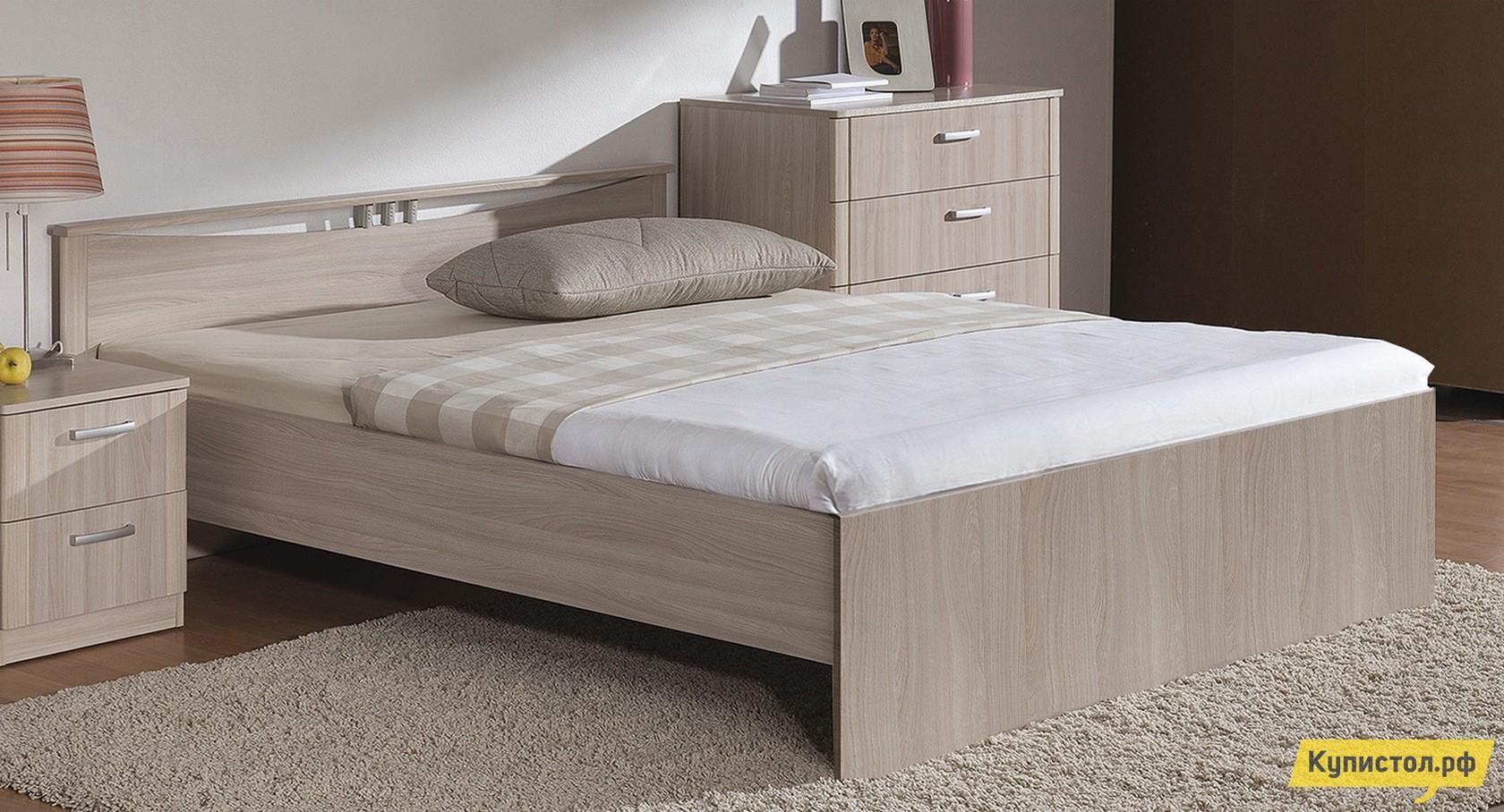 Кровать Боровичи Мелисса Шимо светлый