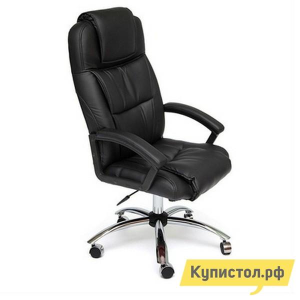 Кресло руководителя Tetchair BERGAMO CHROME Иск. кожа черная PU C36-6